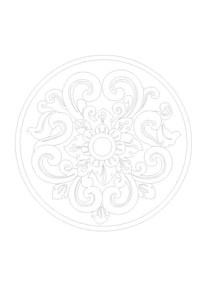 花朵藤蔓元素雕刻纹样