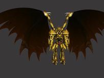黄金机甲机器人3d模型 max