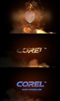 会声会影燃烧火焰logo