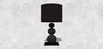 简单的黑色台灯