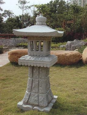 精美石雕室外灯具