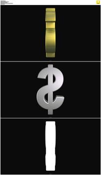 金色美元符号视频素材