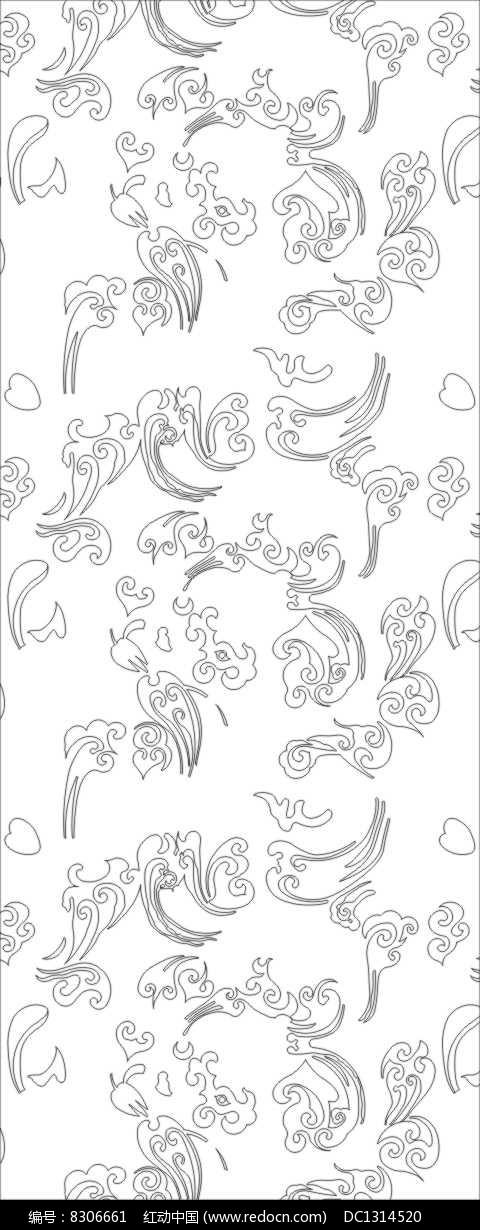 镂空祥云雕刻图案CDR素材下载 编号8306661 红动网