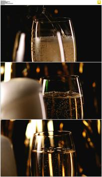 美酒香槟实拍视频素材