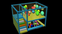 气球屋儿童游乐园3d模型