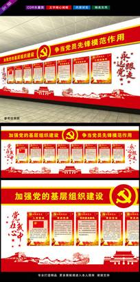 七一建党节党员室党建文化墙