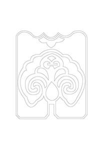 扇形吉祥雕刻纹样