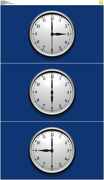时钟转动蓝屏抠像视频素材