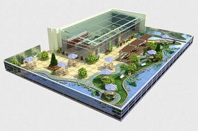 屋顶花园3d模型户型图