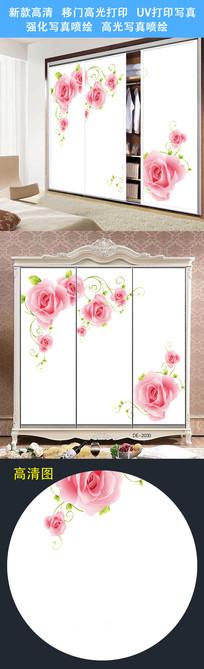 鲜花唯美时尚移门图案打印图案