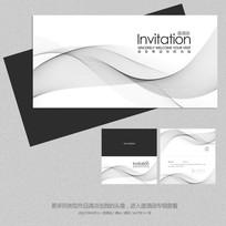 艺术展会展览开业邀请函设计