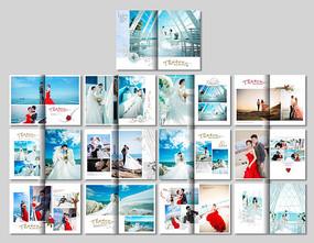 戶外婚紗攝影相冊模板 PSD