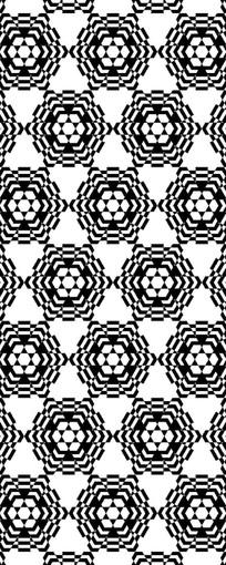 几何花卉图案
