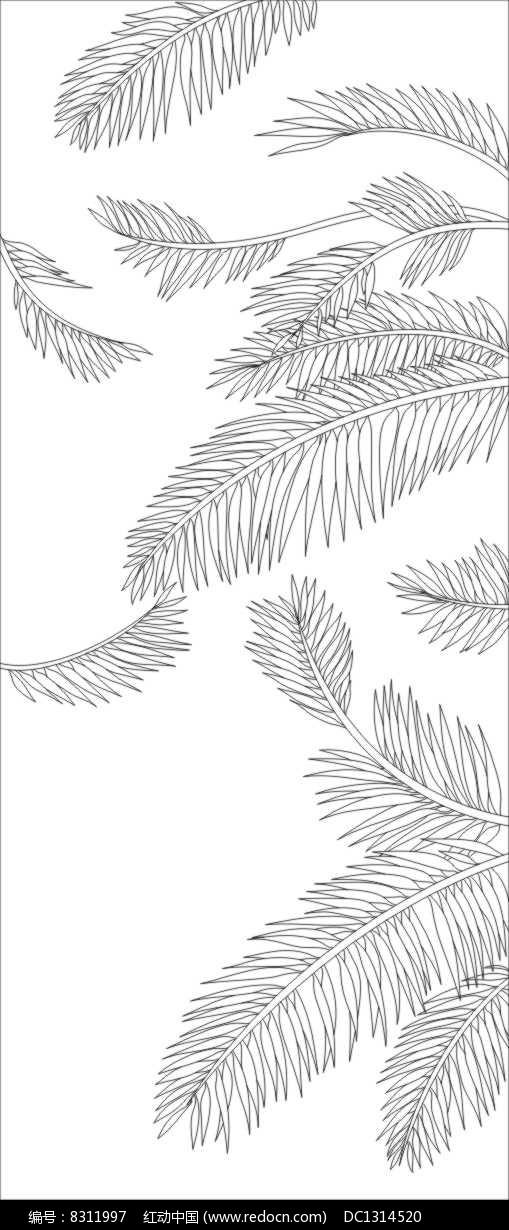 芭蕉叶雕刻图案_红动网图片