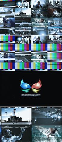 多屏幕画面信号干扰视频模板