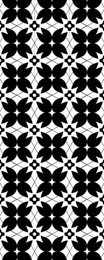 黑白叶子雕刻图案