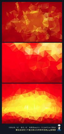 红色不规则菱形背景 AI