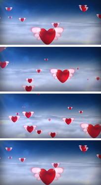 婚礼现场爱的翅膀浪漫爱情背景