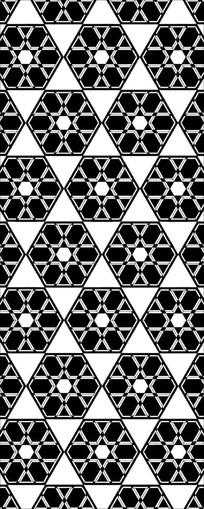 六角星星图案