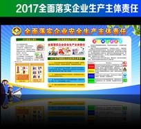 清新2017安全生产月展板