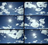 延时天空蓝天流云视频