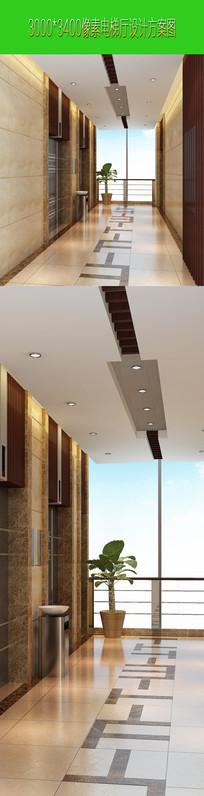 高档电梯厅设计效果图下载 JPG