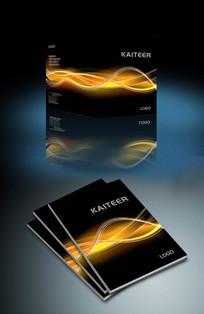 黑色条纹企业画册封面设计
