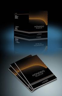 黑色质感科技企业画册封面设计