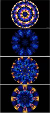 色彩斑斓圆形万花筒变化纹理