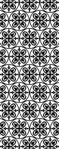 圆形拼花图案