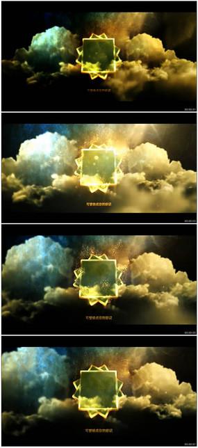 震撼大气黄金质感标志展示