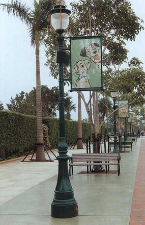 道旗景观灯柱