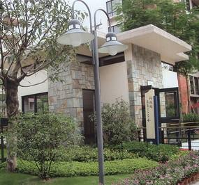 花园双头灯柱
