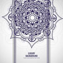 青花瓷包装花纹素材