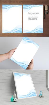 蓝波纹时尚背景信纸