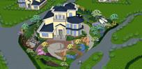 绿化庭院别墅