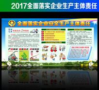 2017企业安全生产内容展板