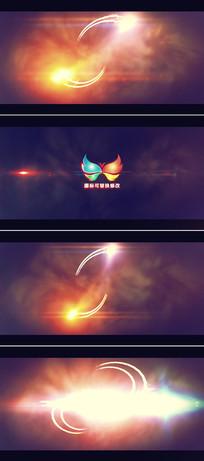 光线汇聚爆发出logo模板