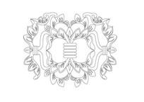 古典花卉雕刻纹样