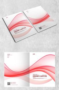 红色大气画册封面设计 PSD