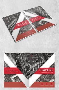 红色地产企业画册封面