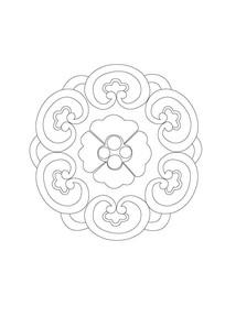 环形如意雕刻纹样