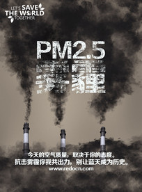 抗击雾霾环保海报