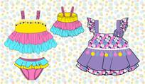 可爱韩版女童可爱公主裙设计