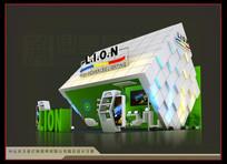 绿色时尚柜台展览展示