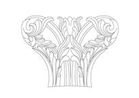 欧式罗马柱雕刻纹样