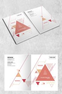 三角线条企业画册封面 AI