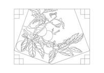 柿子图案窗户雕刻纹样