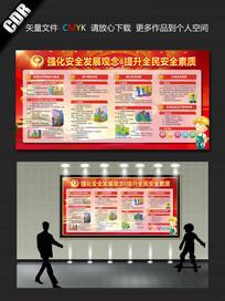 中国风安全生产展板