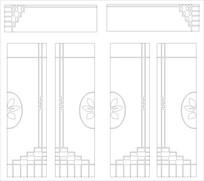 组合门雕刻图案
